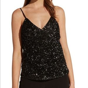 Bardot Black Sequin Cami